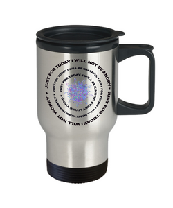 Reiki Prayer Coffee Travel Mug Gift  Principles of Reiki Gift Travel Mug Gift Cup