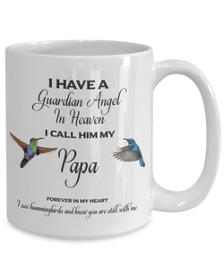 "Papa Memorial Gift I Have a Guardian Angel in Heaven I Call Him My Papa.."" Dad Remembrance"