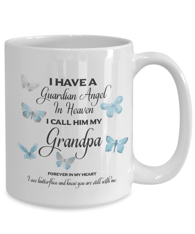 Image of Memorial Gift, Guardian Angel in Heaven, My Grandpa Remembrance Gifts