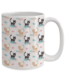 Cat Lover Gift,  Happy Cat Mug for The Cat Loving Guys and Gals in Your Family