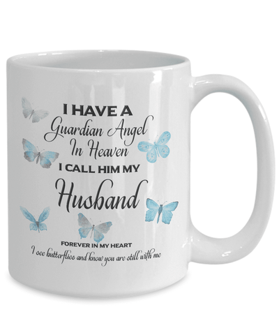 Image of Memorial Gift, I Have a Guardian Angel in Heaven, I Call Him My Husband Remembrance Gifts