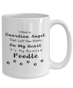 Poodle Memorial Gift Guardian Angel... Poodle, Pet Remembrance Gift