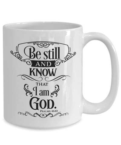 Psalms 46:10 Bible Verse Gift Be Still and Know That I Am God Ceramic Faith Scripture Gift