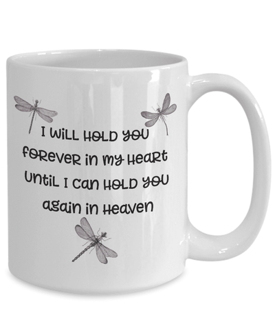 "Image of Dragonfly Memorial Gifts I Will Hold You Forever In My Heart..."" Baby Child Memorial Gifts"