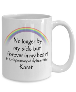 Korat Memorial Gift Cat Mug No Longer By My Side But Forever in My Heart Cup In Memory of Pet Remembrance Gifts