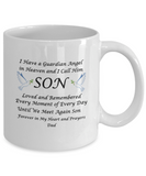 "Gift for Bereaved Dad,Guardian Angel in Heaven I Call Him Son...Dad"" Remembrance Gift"