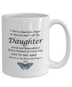 "Gift for Bereaved Dad Guardian Angel in Heaven.. Daughter...Dad "" Remembrance Gift"
