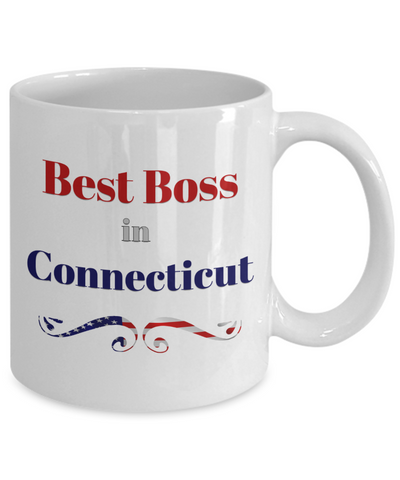 Best Boss Gifts for Women Men Best Boss in Connecticut Office Coffee Mug Gifts for Boss Man Lady Mug