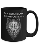 My Spirit Animal Wolf Coffee Mug, My Guardian Spirit Wolf  Teacup Wolf Gifts
