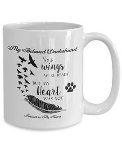 Pet Memorial Gifts My Beloved Dachshund Your Wings...Pet Bereavement  Remembrance Gift