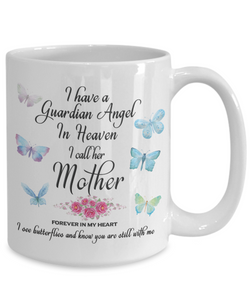 Mom Memorial Gift I Have a Guardian Angel in Heaven, I Call Her Mother Forever in My Heart