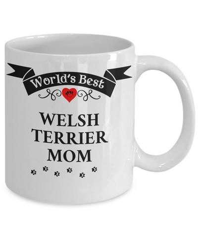 Image of World's Best Welsh Terrier Mom Cup Unique Ceramic Dog Coffee Mug Gifts for Women