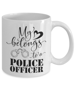 Police Officer Gift, My Heart Belongs to a Police Officer, Police Officer Gift Men and Women
