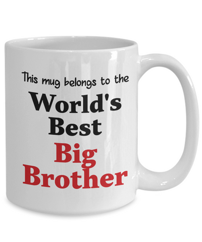 Image of World's Best Big Brother Mug Family Gift Novelty Birthday Thank You Appreciation Ceramic Coffee Cup