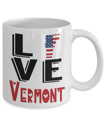 Love Vermont State Mug Gift Novelty American Keepsake Coffee Cup