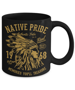 US Patriotic Gifts Native American Pride Cups Unique Coffee Mug Gift For Men Women