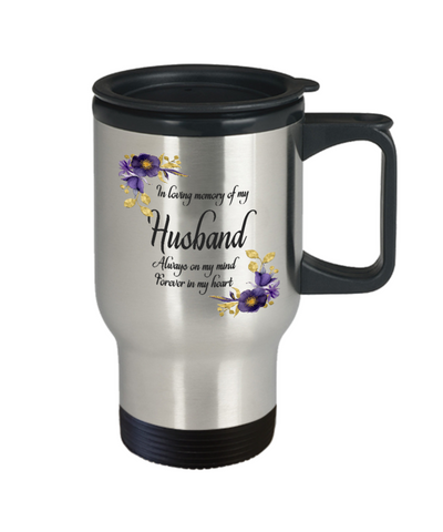 Image of In Loving Memory Husband Travel Mug Sympathy Gift Remembrance Memorial Coffee Cup