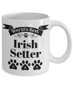 World's Best Irish Setter Dog Dad Mug Fun Novelty Birthday Gift Work Coffee Cup