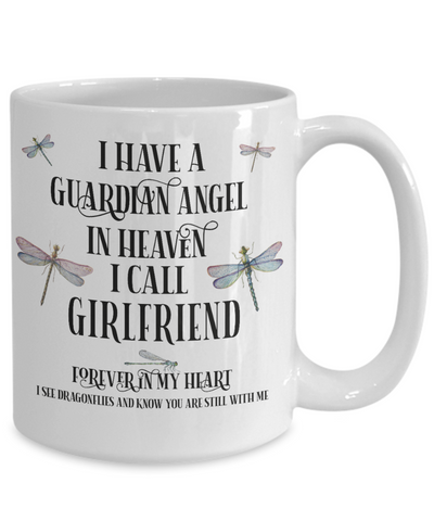 Girlfriend Dragonfly Memorial Mug Gift Guardian Angel In Loving Memory Keepsake Cup