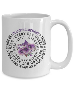 In Loving Memory Mug Gift Those we love don't go away...Remembrance Ceramic Coffee Cup