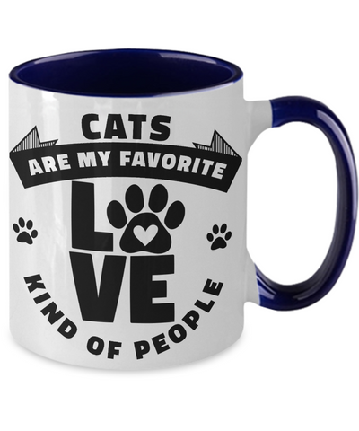Cats Are My Favorite Kind of People Mug Ceramic Two-Tone Coffee Cup