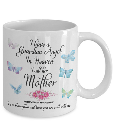 Image of Mom Memorial Gift I Have a Guardian Angel in Heaven, I Call Her Mother Forever in My Heart