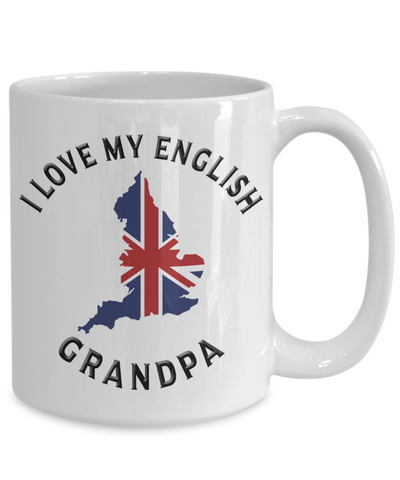Image of I Love My English Grandpa Mug Novelty Birthday Gift Ceramic Coffee Cup