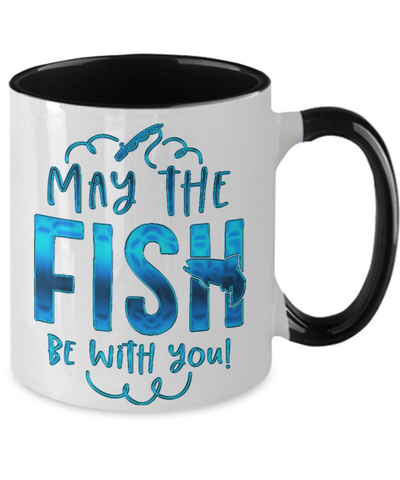 May The Fish be With You Fishing Coffee Travel Mug With Lid Fisherman Cup