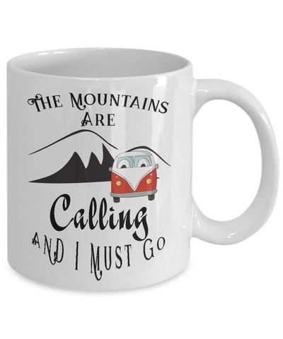 The Mountains are Calling and I Must Go, Gift Mug