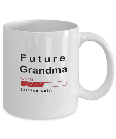 Image of Future Grandma Loading Please Wait Coffee Mug Gifts for Grandmas to Be Grandma in Training Cups