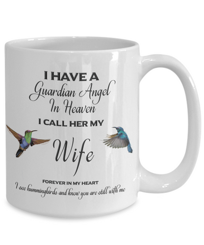 Image of Wife Memorial Gift Guardian Angel in Heaven Wife  Spouse Remembrance Gifts