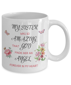 Christian Bereavement Memorial Gift My Sister Was So Amazing...Remembrance Gift
