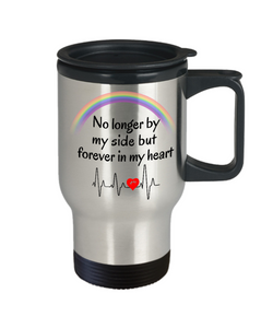 In Memory of My Dog Cat Travel Mug With Lid No Longer By My Side But Forever in My Heart Pet Remembrance Gifts