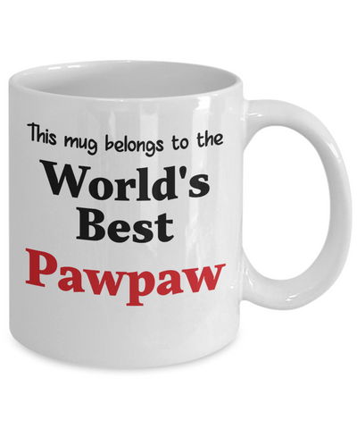 Image of World's Best Pawpaw Mug Family Gift Novelty Birthday Thank You Appreciation Ceramic Coffee Cup