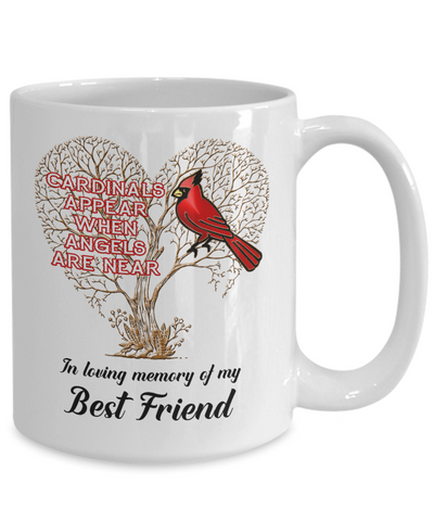 Image of Friend Cardinal Memorial Coffee Mug Angels Appear Keepsake