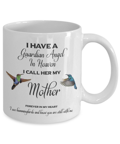 Image of Mom Memorial Gift I Have a Guardian Angel in Heaven Mother Remembrance Gifts