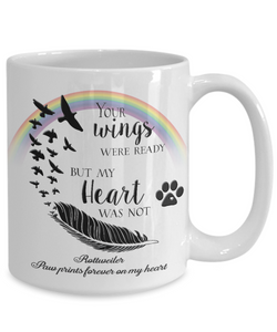 Rottweiler Bereavement Memorial Gifts Your Wings Were Ready.. Rottweiler Remembrance Gift