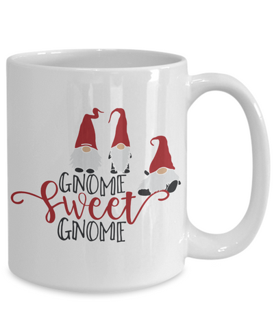 Image of Gnome Sweet Gnome Lover Mug Gift Fun Novelty Coffee Cup