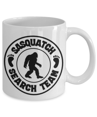 Sasquatch Hunters Search Team Coffee Mug Bigfoot Ceramic Coffee Cup Big Foot