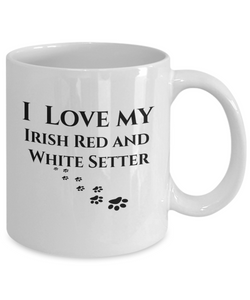 I Love My Irish Red And White Setter Mug Dog Lover Novelty Birthday Gifts Unique Gifts