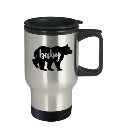 Baby Bear Travel Mug With Lid Cute Animal Family Novelty Birthday Gift Coffee Cup