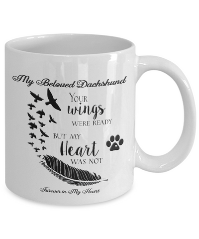 Image of Pet Memorial Gifts My Beloved Dachshund Your Wings...Pet Bereavement  Remembrance Gift