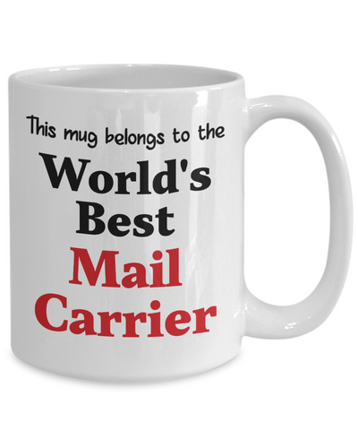 Image of World's Best Mail Carrier Mug Occupational Gift Novelty Birthday Thank You Appreciation Ceramic Coffee Cup