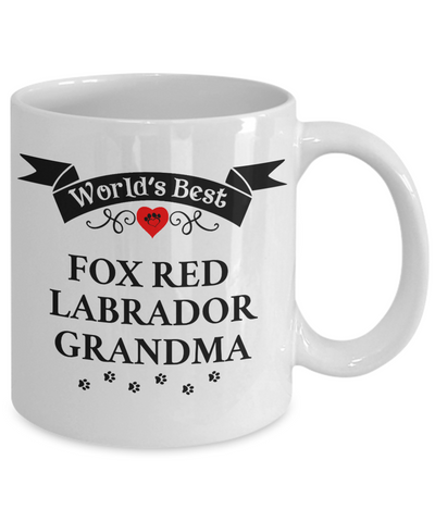 World's Best Fox Red Labrador Grandma Cup Unique Ceramic Dog Coffee Mug Gifts for Women