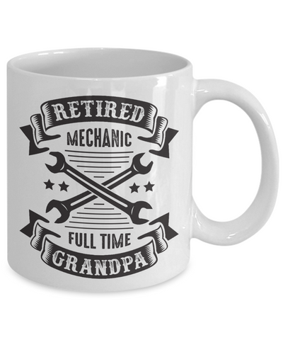 Retired Mechanic Grandpa Retirement Mug Gift Good Luck Thank You Novelty Cup