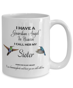 Sister Memorial Gift I Have a Guardian Angel... Sister Remembrance Gifts