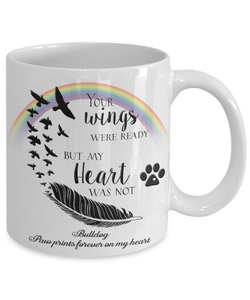 Bulldog Bereavement Memorial Gifts Your Wings Were Ready... Bulldog Remembrance Gift