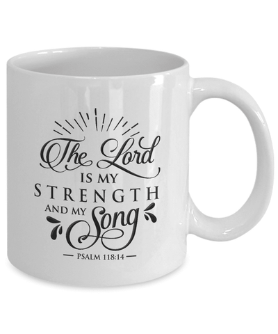 Image of Faith Gift, The Lord Is My Strength and My Song, Psalm 118:14 Bible Verse Gift