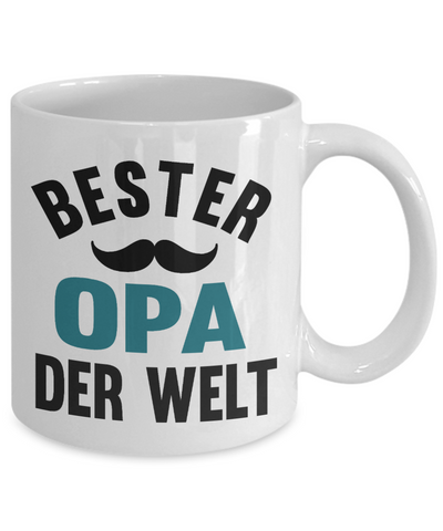 Bester Opa Derwelt Mug Gift German Best Grandpa in The World Father's Coffee Cup