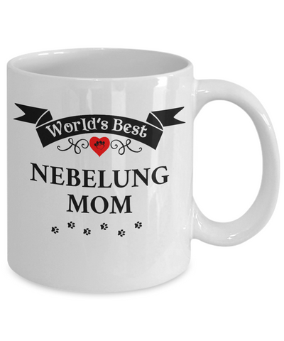 Image of World's Best Nebelung Mom Cup Unique Ceramic Cat Coffee Mug Gifts for Women